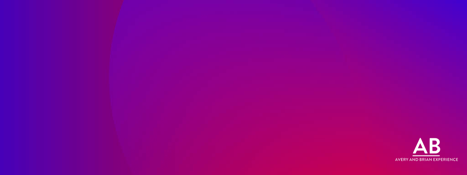 Gradient background for Avery and Brian