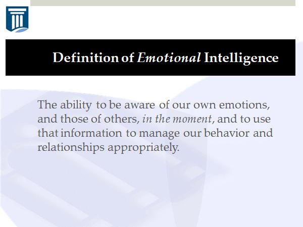 The definition of emotional intelligence
