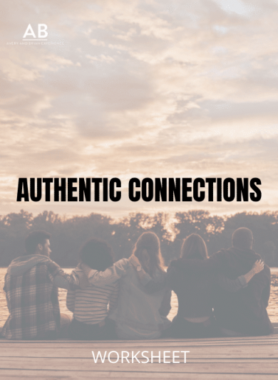 A group of friends sitting together – Authentic Connections