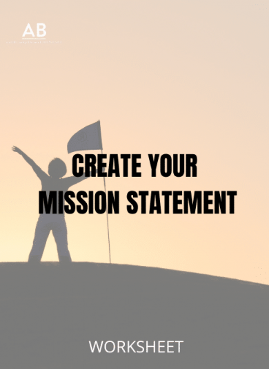Create your mission statement – worksheet resource